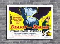 1950's Movie - DEADLY IS THE FEMALE - landscape canvas print - self adhesive poster - photo print